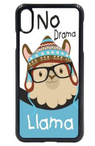 Beautiful Cute Funny No Drama Llama Blue Boy Design Mobile Phone Case To Fit iPhone